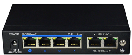 Picture of 4-port PoE Network Switch